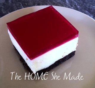 Jelly Slice Recipe with chocolate base