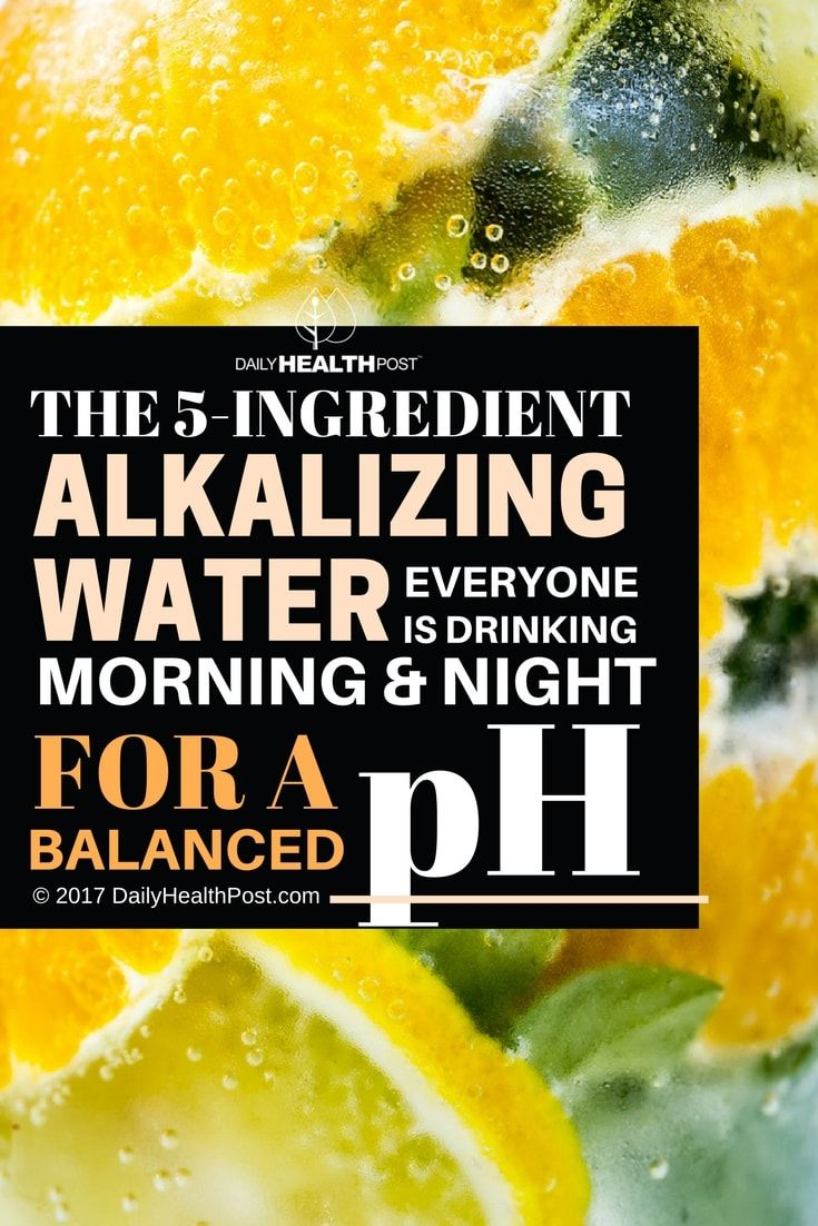 Here are 5 Ingredient Alkalizing Water to Nourish You and Balance Your pH