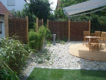 Nice Sichtschutz f r Garten und Terrasse Immergr ne Hecken Holzw nde L rmschutz Bambus und Cortenstahl