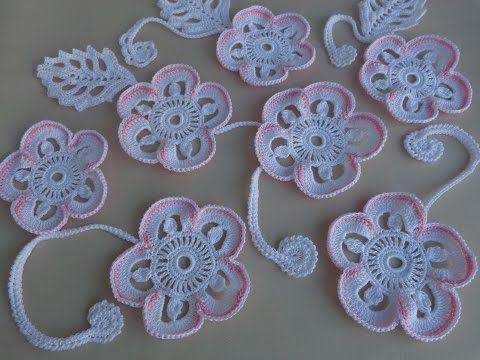 REGINA RECEITAS DE CROCHE E AFINS: Как связать цветок.Урок вязания крючком.