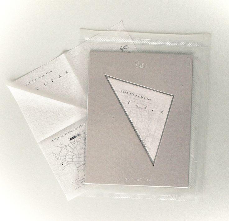 RYU/2012 S/S collection インビテーション | 大阪のデザイン事務所|G_graphics(ジーグラフィックス)|Graphic design & Innovation