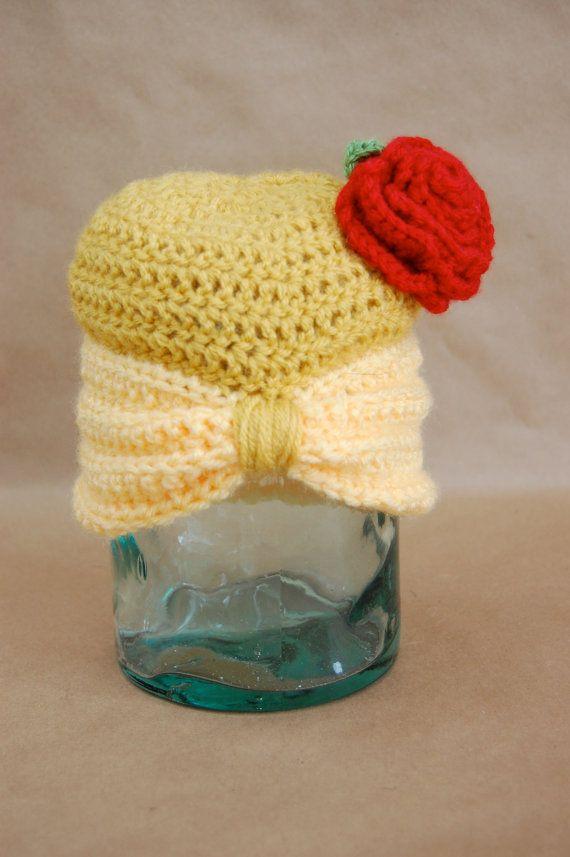 Disney Princess Belle Inspired Crochet Hat via Etsy