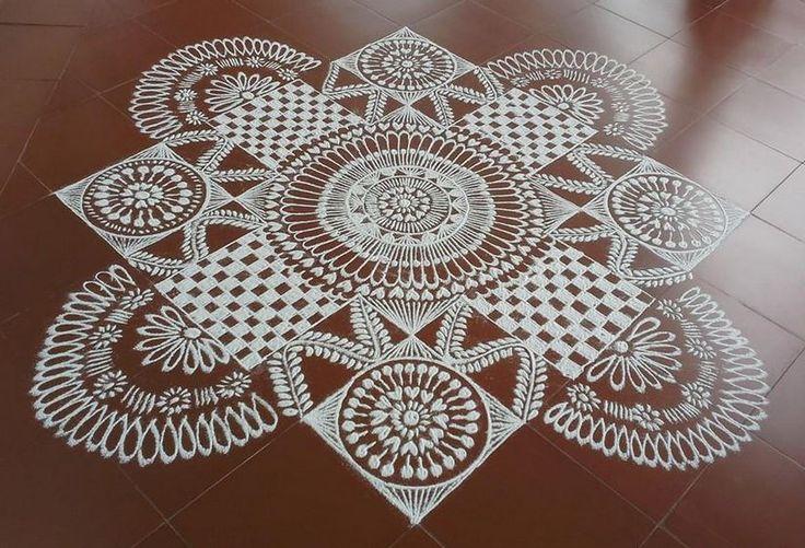 Free hand Kolam Design