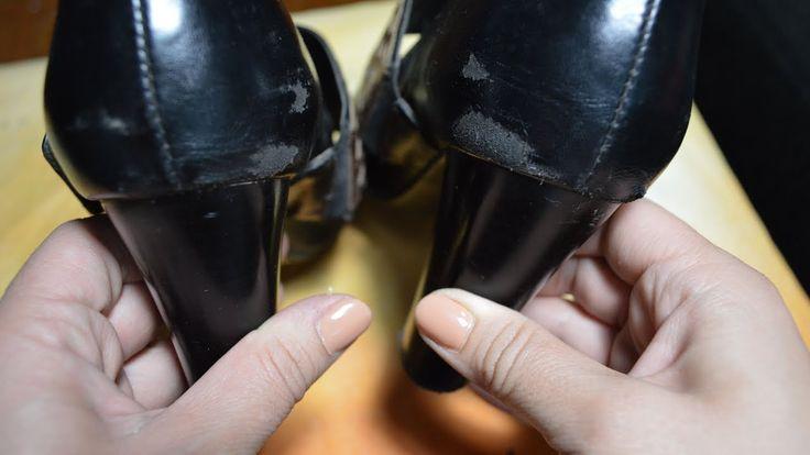 Устраняем потертости и  царапины разной глубины на туфлях