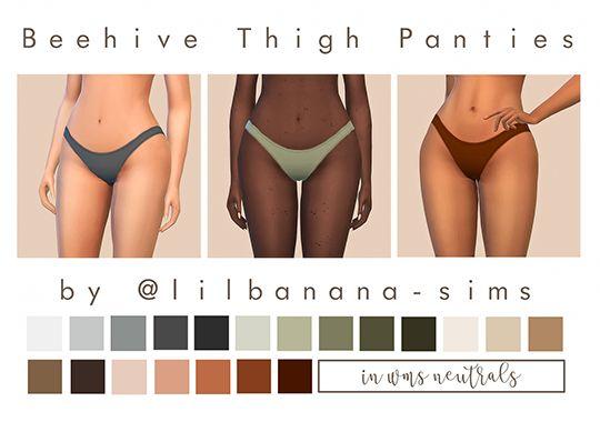 Lana CC Finds - sim-bubble:   Beehive Thigh Panties Recolour  I've...