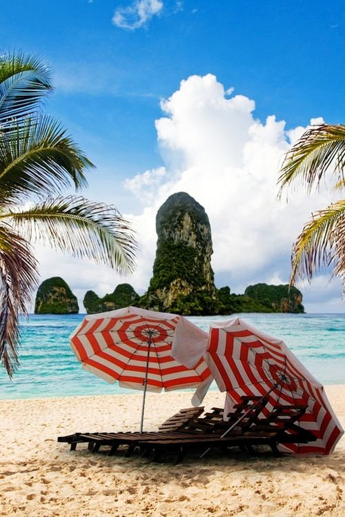 : At The Beaches, Beaches Umbrellas, Summer Vacations, Beaches Life, Beaches Resorts, Tropical Paradis, Places, Paradise, Summer Time
