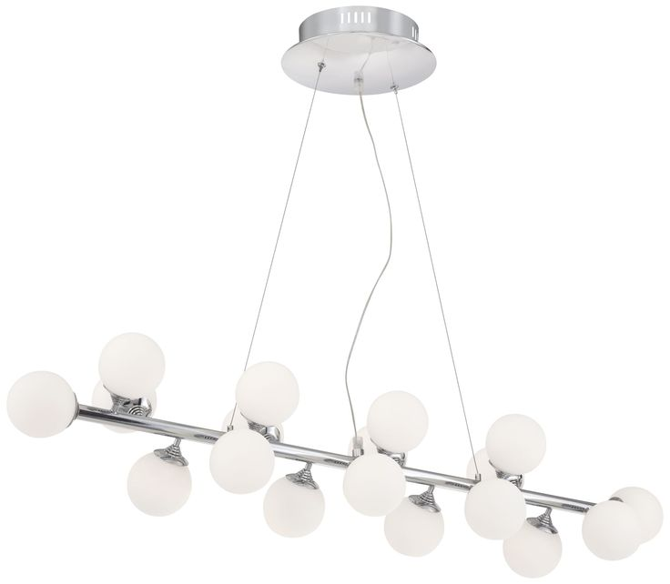 69 best light fixtures images on pinterest lamps light fittings a sleek chrome finish brings a clean polished look to this energy efficient led island chandelier chrome finish with frosted glass style at lamps plus aloadofball Gallery