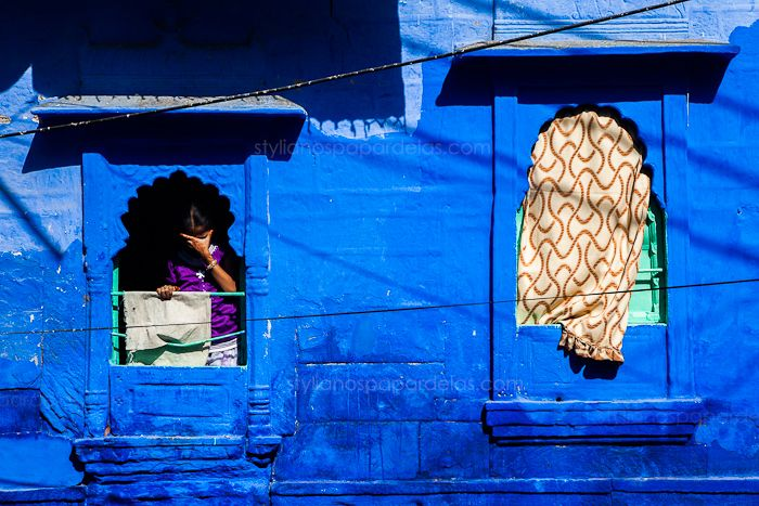 In the blue city. Jodpur, India  You will find it in my page on http://www.facebook.com/stylianospapardelas  originally uploaded here: http://www.stylianospapardelas.com/photo-set/blue?image=5
