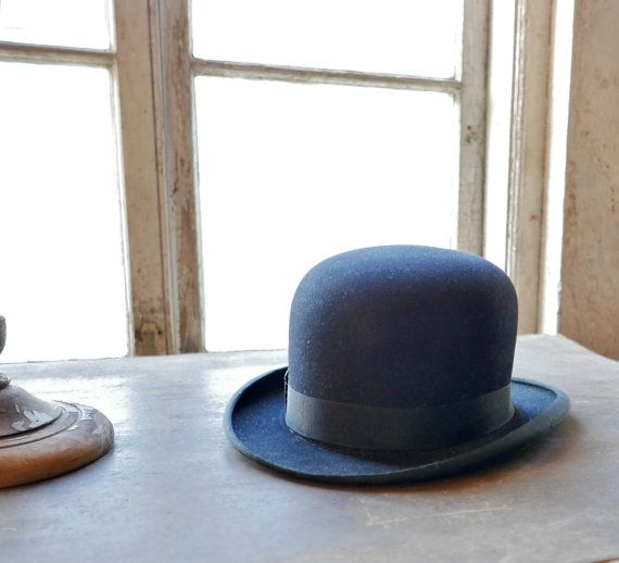 Men's Bowler Hat Size 7-1/8 by marybethhale on Etsy
