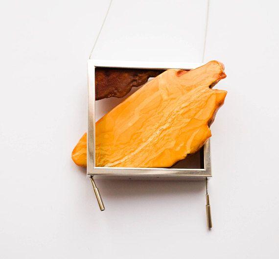 E.Salwierz Design Amber Necklace 87 g