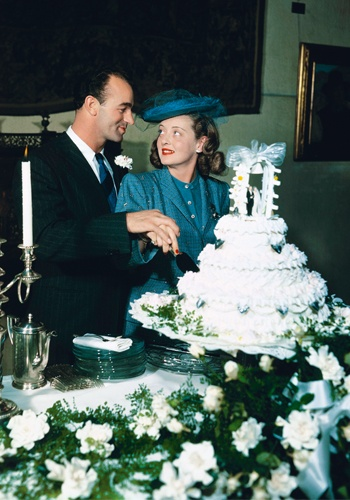 "Bette Davis & third husband, William Grant Sherry (m.1945–1950; divorced) one child, Barbara Davis Sherry ""B.D."""