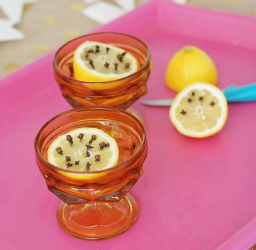 Keep Flies Away With This Remedy. Cut A Lemon In Half, Stick Some Cloves