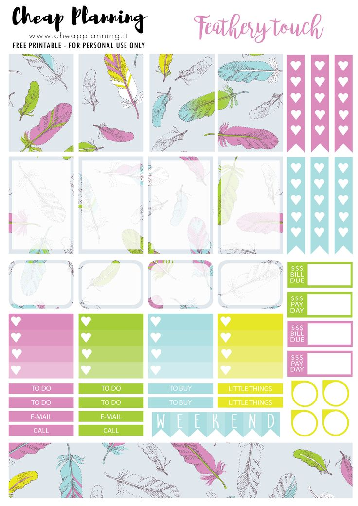 2156 best FREE Planner Stickers and Organizers images on ...
