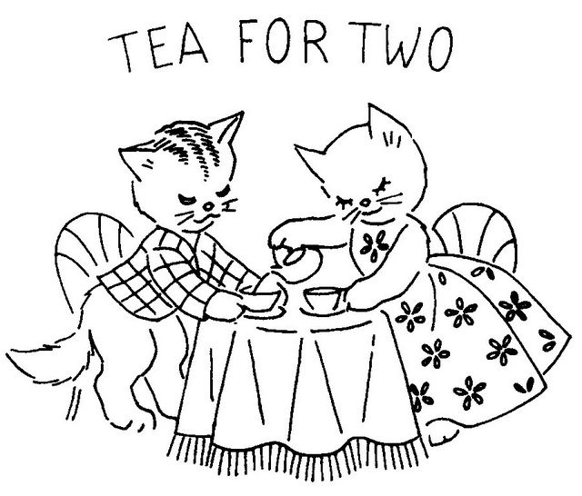 tea for two - this would make a really cute needle point design