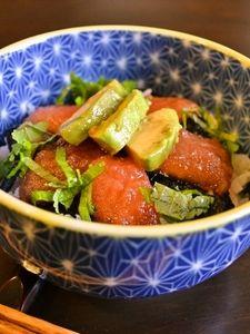 【アボカドとトマトでづけ丼風】え?まぐろじゃないって?!