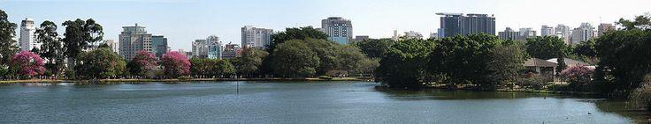 Panorama Ibirapuera Park, Sao Paulo, Brazil