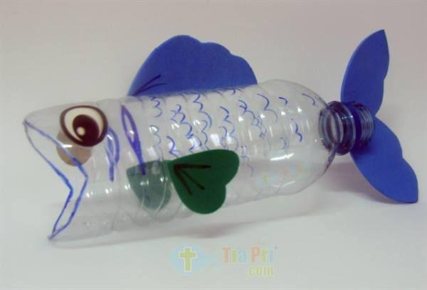 laboratori per bambini  riciclo bottiglia pesce