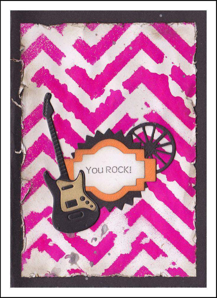 Lucescrap: Rosa gitarkort