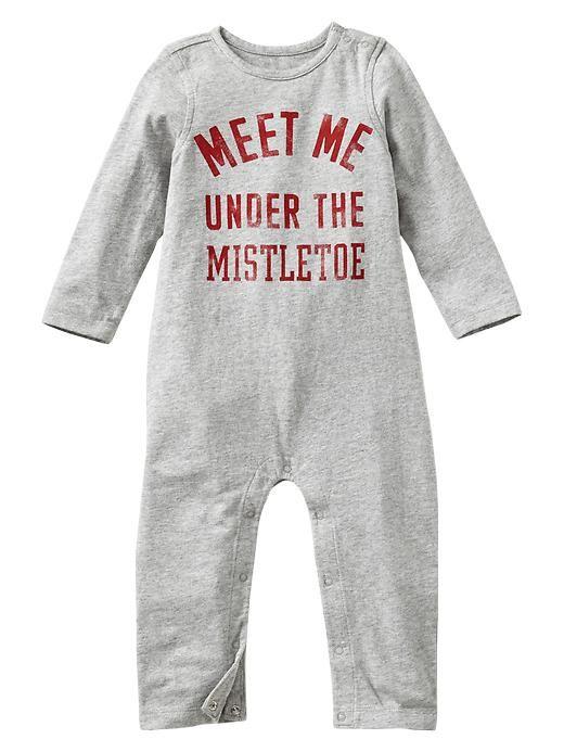 meet me under the mistletoe onesie