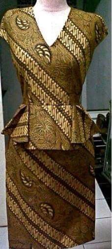 Batik peplum dress