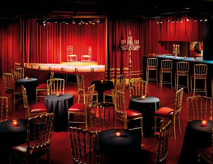 El Porteño Hotel. Salon Cabaret. Buenos Aires. Argentina. Cortinas by Gunter Dillenberger.