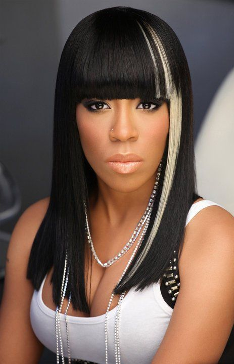 K. Michelle Hairstyles. Who says we can't have fun with hair with a nice wig or weave. This is such a sassy and nice look.