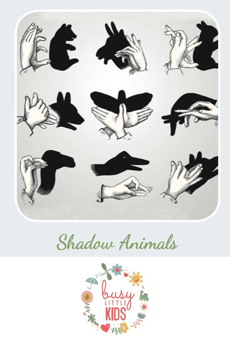 Fun, simple, easy rainy day kids activity - Shadow Animals