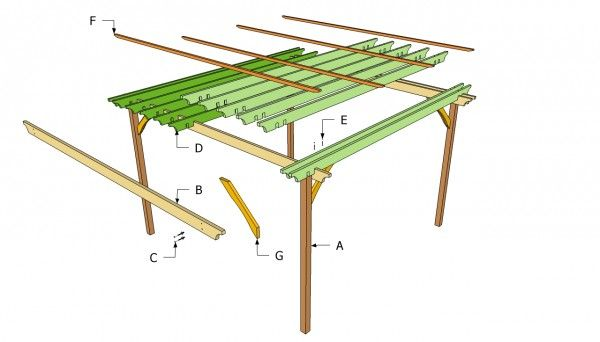 Free Standing Arbor Plans