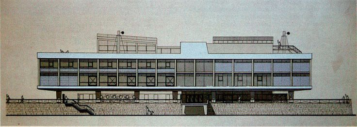 Community Center for Newton Aycliffe : James Stirling's Thesis Project at the University of Liverpool School of Architecture (1950)