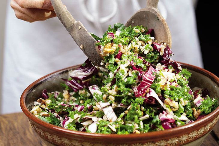 Shalane Flanagan's go-to salad features superfood kale, whole grains, and an addictive lemon-miso dressing.