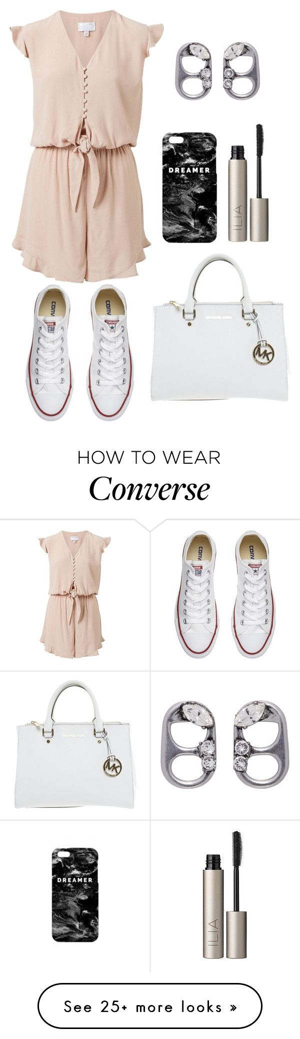 """""""Untitled #111"""" by rozlynjanine on Polyvore featuring Witchery, Converse, Marc Jacobs, Michael Kors, Mr. Gugu & Miss Go and Ilia"""