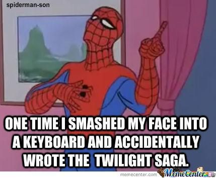 Spiderman meme and twilight