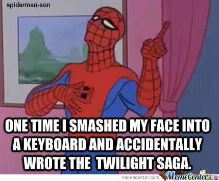 Spiderman meme and twilight