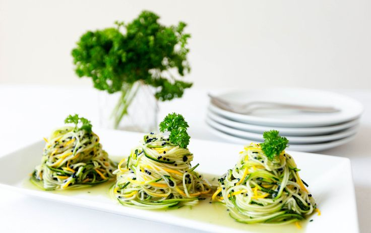 Angel Hair Zoodles with Truffle Oil - only 3 ingredients