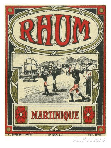 Rhum Martinique Brand Rum Label Reproduction d'art