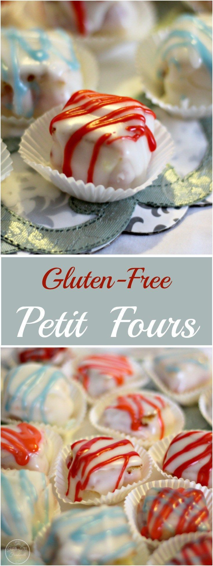 Gluten-Free Petit Fours are a delicious bite of tiny little cakes that are sure to please everyone! These tasty little things are great for any occasion!
