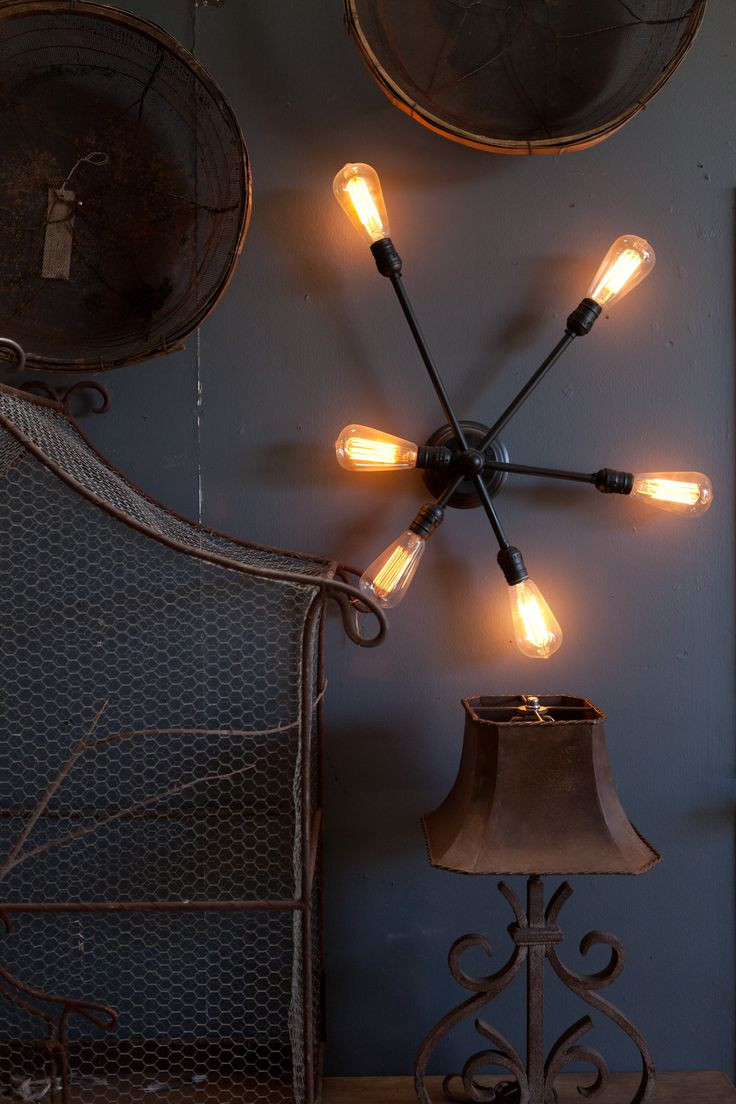 Industrial Chic Wall Sconces : 25 best Big Daddy s Antiques Custom Lighting images on Pinterest Big daddy, Industrial ...