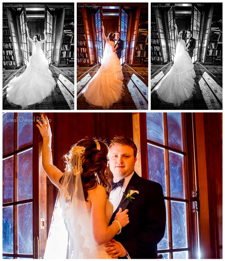 affordable wedding photographers in los angeles%0A    the standard club wedding portraits library glass doors backlight ocf  off camera flash bride groom