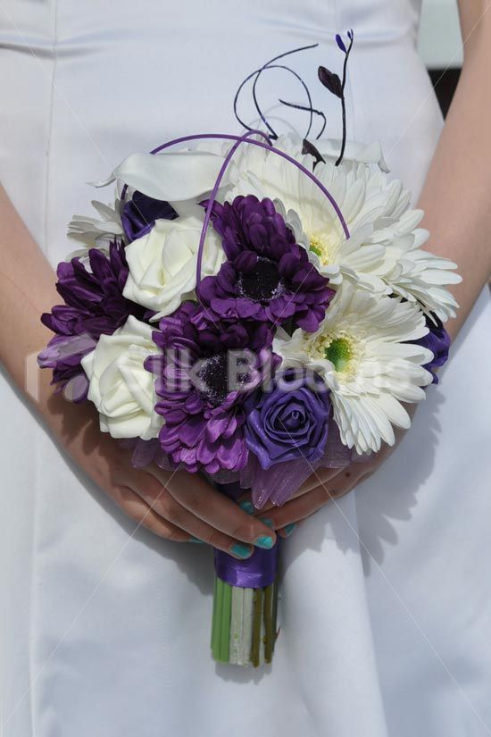 Artificial Purple Wedding Bouquets : Best images about purple wedding flowers and