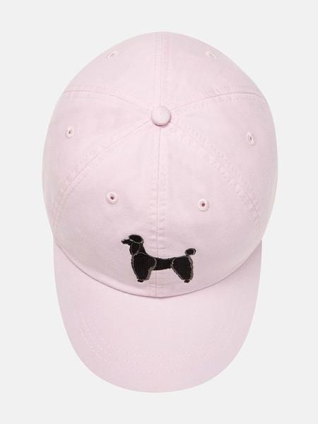 Adjustable hat with embroidered Poodle. Online exclusive.