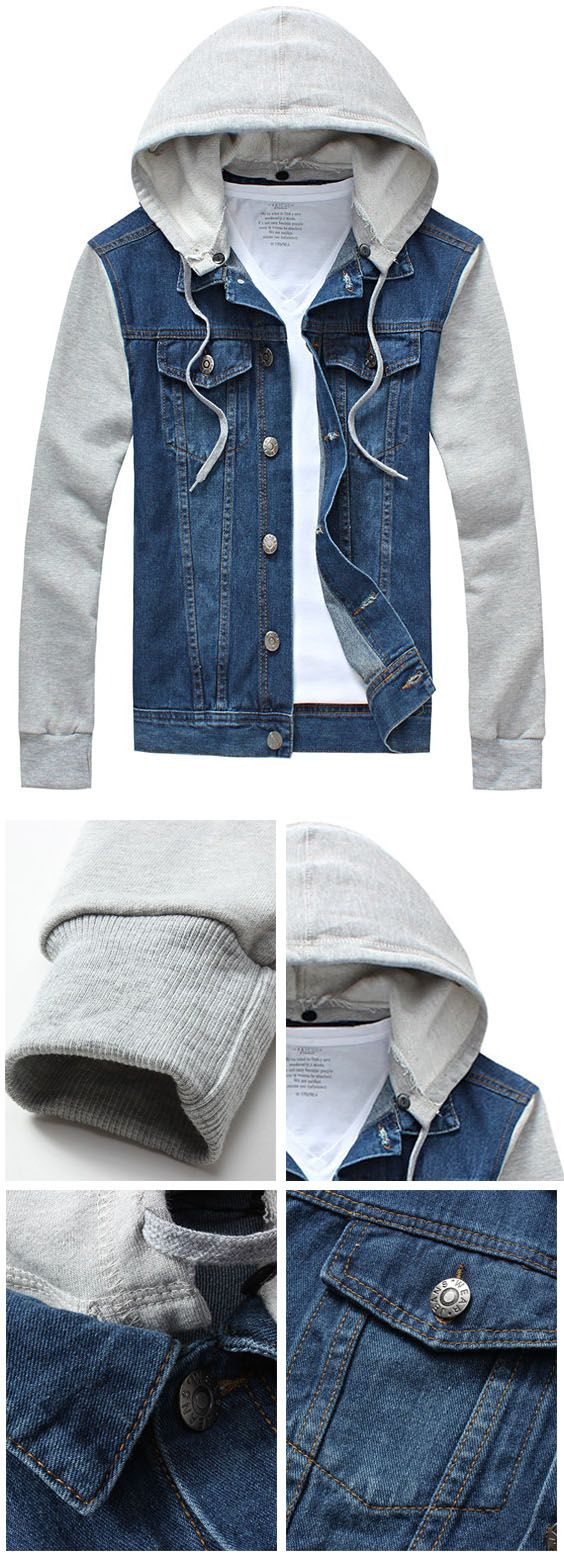 Up to 80% OFF! Panel Design Denim Jacket With Detachable Hood. #Zaful #hoodies Zaful, zaful outfits, zaful sweater, zaful men, mens top,men fashion, man sweatshirts, man hoodies,man outfits, hoodies men swag, hoodies men pullover, jackets men, t-shirts,long sleeve t shirts,v neck t shirts, denim jacket, winter outfits, winter fashion, fall fashion, fall outfits, Christmas, ugly, ugly Christmas, Thanksgiving, gift, Christmas hoodies, Black Friday, Cyber Monday @zaful Extra 10% OFF Code:ZF2017