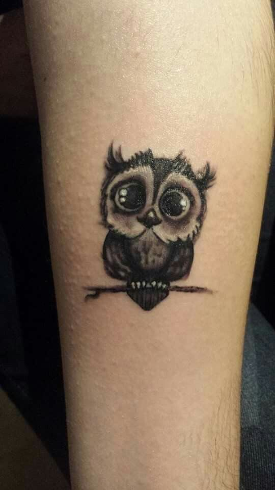 Cute owl tattoo                                                                                                                                                      More