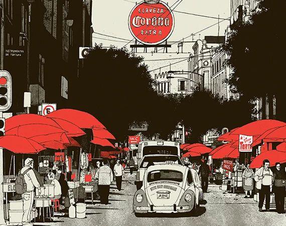 Evan Hecox : Evan Hecox Mexico City Print | Sumally (サマリー)