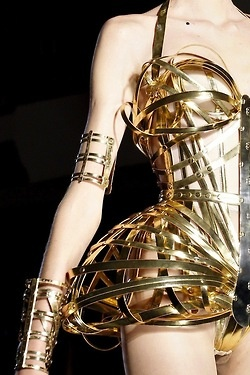 Jean Paul Gaultier Haute Couture AW12 - Gold metal bodice