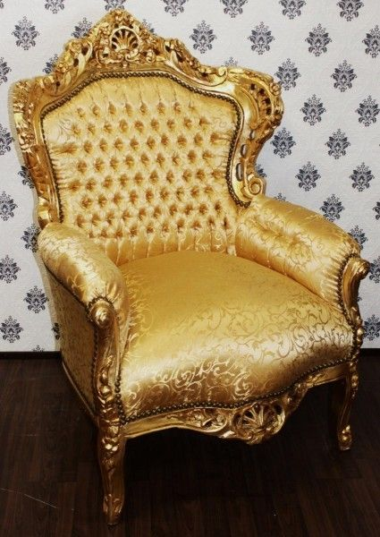 #Barock #Sessel King #Gold Muster