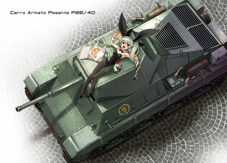 「P40重戦車」/「まるかた」のイラスト [pixiv]