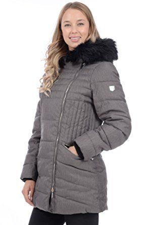 1a35969ef88 RedX Canada Women s Mid Length Polyfill Winter Coat with Faux Fur Trim on  Hood Review