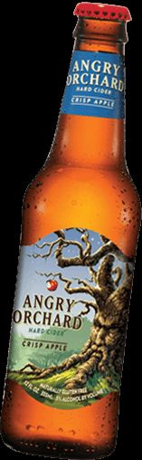 A bottle of Angry Orchard crisp. Best chicken marinade. Makes awesome beer can chicken!