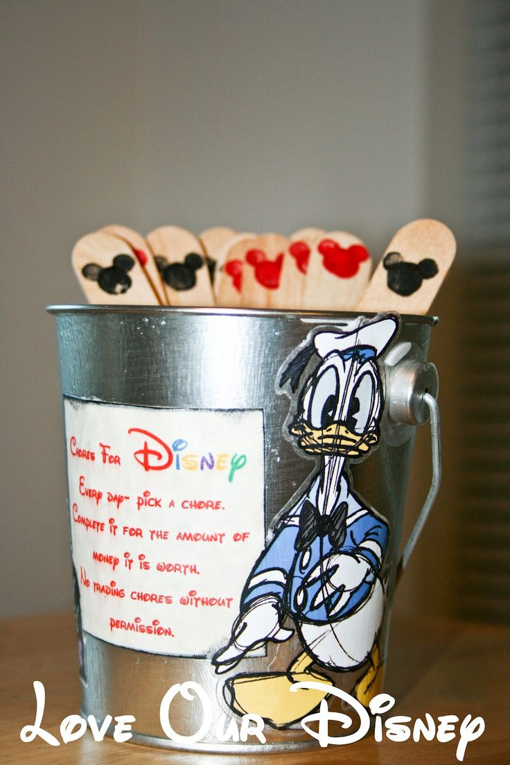 Love Our Disney: Craft Time- Disney Chore Bucket, Earn money for Disney: Disney Crafts, Diy Crafts, For Kids, Disney Ideas, Disney Chore, Chore Buckets, Crafts Time, Disney Vacation, Earn Money