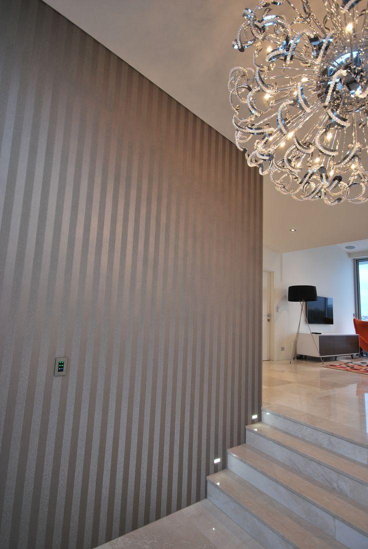 Multi Million Dollar Home In Sydney #entrance #foyer #wallpaper  #beadedstripemanhatten #baresque | For The Home | Pinterest | Foyer  Wallpaper, Entrance ...